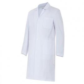 Blouse d'entretien et santé manches longues 3 poches homme 65% polyester 35% coton 210 gr/m2 - Blanc - 539001 - Velilla