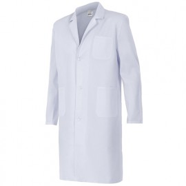 Blouse de travail 3 poches unisexe 65% polyester 35% coton 175 gr/m2 - Blanc - 700P - Velilla