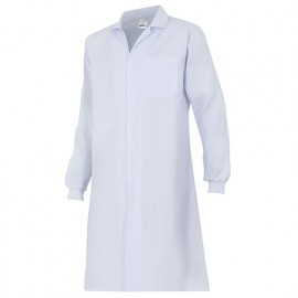 Blouse de travail avec fermeture à velcro 65% polyester 35% coton 175 gr/m2 - Blanc - 705 - Velilla