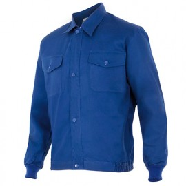 Blouson de travail 2 poches homme 100% coton 180 gr/m2 - Bleu Azur - 645 - Velilla