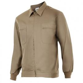 Blouson de travail 2 poches homme 80% polyester 20% coton 190 gr/m2 - Beige - 61601 - Vertice laboral