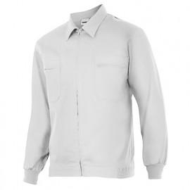 Blouson de travail 2 poches homme 80% polyester 20% coton 190 gr/m2 - Blanc - 61601 - Vertice laboral