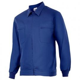 Blouson de travail 2 poches homme 80% polyester 20% coton 190 gr/m2 - Bleu Azur - 61601 - Vertice laboral
