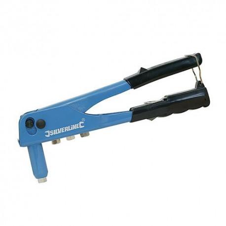 Pince à riveter manuelle 4 têtes L. 250 mm - 868792 - Silverline