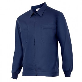 Blouson de travail 2 poches homme 80% polyester 20% coton 190 gr/m2 - Bleu Marine - 61601 - Vertice laboral