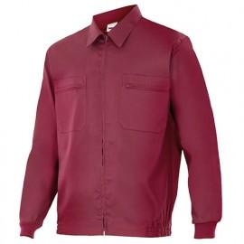 Blouson de travail 2 poches homme 80% polyester 20% coton 190 gr/m2 - Grenat - 61601 - Vertice laboral