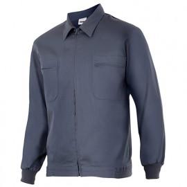 Blouson de travail 2 poches homme 80% polyester 20% coton 190 gr/m2 - Gris - 61601 - Vertice laboral