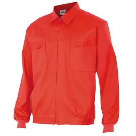 Blouson de travail 2 poches homme 80% polyester 20% coton 190 gr/m2 - Rouge - 61601 - Vertice laboral