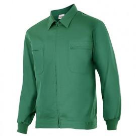 Blouson de travail 2 poches homme 80% polyester 20% coton 190 gr/m2 - Vert - 61601 - Vertice laboral