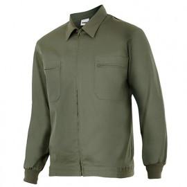 Blouson de travail 2 poches homme 80% polyester 20% coton 190 gr/m2 - Vert Chasseur - 61601 - Vertice laboral