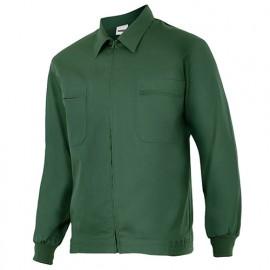 Blouson de travail 2 poches homme 80% polyester 20% coton 190 gr/m2 - Vert Fôret - 61601 - Vertice laboral