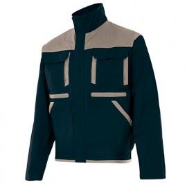 Blouson de travail bicolore multipoches homme 65% polyester 35% coton 275 gr/m2 - Bleu Marine/Beige - COBRE - Disvel