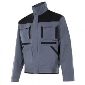 Blouson de travail bicolore multipoches homme 65% polyester 35% coton 275 gr/m2 - Gris/Noir - COBRE - Disvel