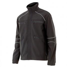 Blouson de travail softshell homme 90% polyester 10% élasthanne 320 gr/m2 - Noir - MONCAYO - Disvel