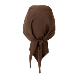 Bonnet de service à bandelettes 65% polyester 35% coton 210 gr/m2 - Marron - MACIS - Disvel