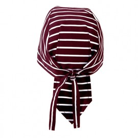Bonnet de service à bandelettes 65% polyester 35% coton 210 gr/m2 - Rayures Grenat - MACISRY - Disvel