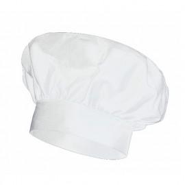 Bonnet français de cuisine 65% polyester 35% coton 210 gr/m2 - Blanc - VAINILLA - Disvel