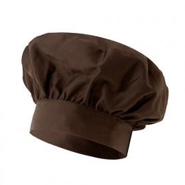 Bonnet français de cuisine 65% polyester 35% coton 210 gr/m2 - Marron - VAINILLA - Disvel