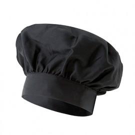 Bonnet français de cuisine 65% polyester 35% coton 210 gr/m2 - Noir - VAINILLA - Disvel