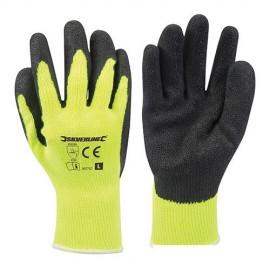Gants haute visibilité jaunes Large - 907757 - Silverline