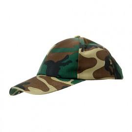 Casquette de chasseur 65% polyester 35% coton 250 gr/m2 - Vert Camouflage - RENO - Disvel