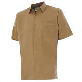 Chemise à manches courtes 1 poche homme 65% polyester 35% coton 104 gr/m2 - Beige - 531 - Velilla
