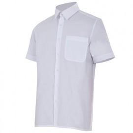 Chemise à manches courtes 1 poche homme 65% polyester 35% coton 104 gr/m2 - Blanc - 531 - Velilla