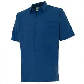 Chemise à manches courtes 1 poche homme 65% polyester 35% coton 104 gr/m2 - Bleu Marine - 531 - Velilla
