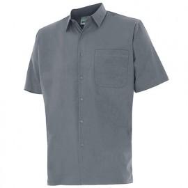 Chemise à manches courtes 1 poche homme 65% polyester 35% coton 104 gr/m2 - Gris - 531 - Velilla