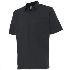 Chemise à manches courtes 1 poche homme 65% polyester 35% coton 104 gr/m2 - Noir - 531 - Velilla