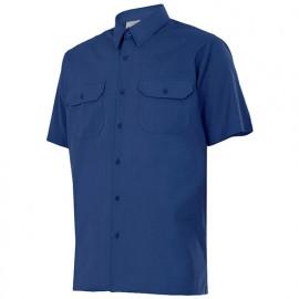 Chemise à manches courtes 2 poches homme 65% polyester 35% coton 104 gr/m2 - Bleu Marine - 522 - Velilla