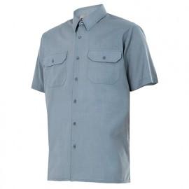 Chemise à manches courtes 2 poches homme 65% polyester 35% coton 104 gr/m2 - Gris - 522 - Velilla