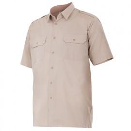 Chemise à manches courtes avec galons 2 poches homme 65% polyester 35% coton 104 gr/m2 - Beige - 532 - Velilla