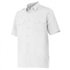Chemise à manches courtes avec galons 2 poches homme 65% polyester 35% coton 104 gr/m2 - Blanc - 532 - Velilla