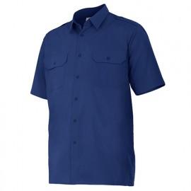 Chemise à manches courtes avec galons 2 poches homme 65% polyester 35% coton 104 gr/m2 - Bleu Marine - 532 - Velilla