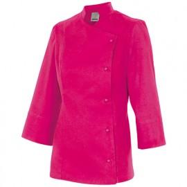 Chemise de cuisine femme finition téflon 65% polyester 35% coton 210 gr/m2 - Fuchsia - MELISA - Disvel