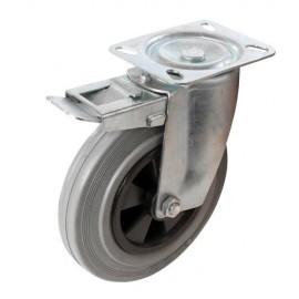 Roulette pivotante caoutchouc D. 200 mm 200 kg - 921139 - Fixman