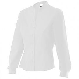 Chemise de service à col mao femme 65% polyester 35% coton 118 gr/m2 - Blanc - VIURA - Disvel