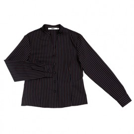 Chemise de service cintrée à col mao femme 65% polyester 35% 112 gr/m2 - Noir - VIURARY - Disvel