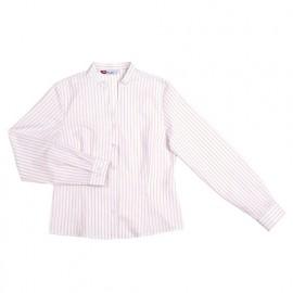Chemise de service cintrée à col mao femme 65% polyester 35% 118 gr/m2 - Blanc - VIURARY - Disvel