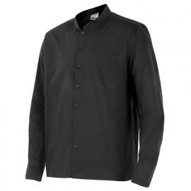 Chemise de service col mao manches longues homme 65% polyester 35% coton 112 gr/m2 - Noir - LISTAN - Disvel