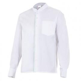 Chemise de service col mao manches longues homme 65% polyester 35% coton 118 gr/m2 - Blanc - LISTAN - Disvel