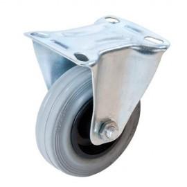 Roulette fixe caoutchouc D. 125 mm 100 kg - 926633 - Fixman