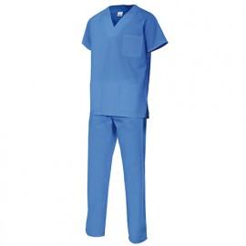 Combinaison d'entretien et santé homme 80% polyester 20% coton 180 gr/m2 - Bleu Ciel - 800 - Vertice laboral