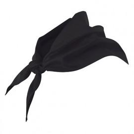 Foulard de restauration 65% polyester 35% coton 190 gr/m2 - Noir - 404003 - Velilla