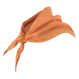 Foulard de restauration 65% polyester 35% coton 190 gr/m2 - Orange Clair - 404003 - Velilla