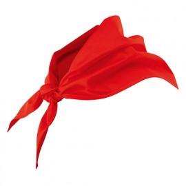 Foulard de restauration 65% polyester 35% coton 190 gr/m2 - Rouge - 404003 - Velilla