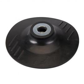 Plateau support caoutchouc D. 115 x 2 mm x M14 pour disque semi-rigide - 941859 - Silverline