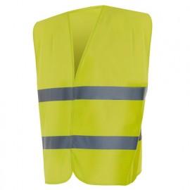 Gilet de sécurité haute visibilité 100% polyester 100 gr/m2 - Jaune Fluo - 14001 - Vertice laboral