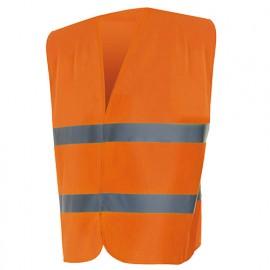 Gilet de sécurité haute visibilité 100% polyester 100 gr/m2 - Orange Fluo - 14001 - Vertice laboral